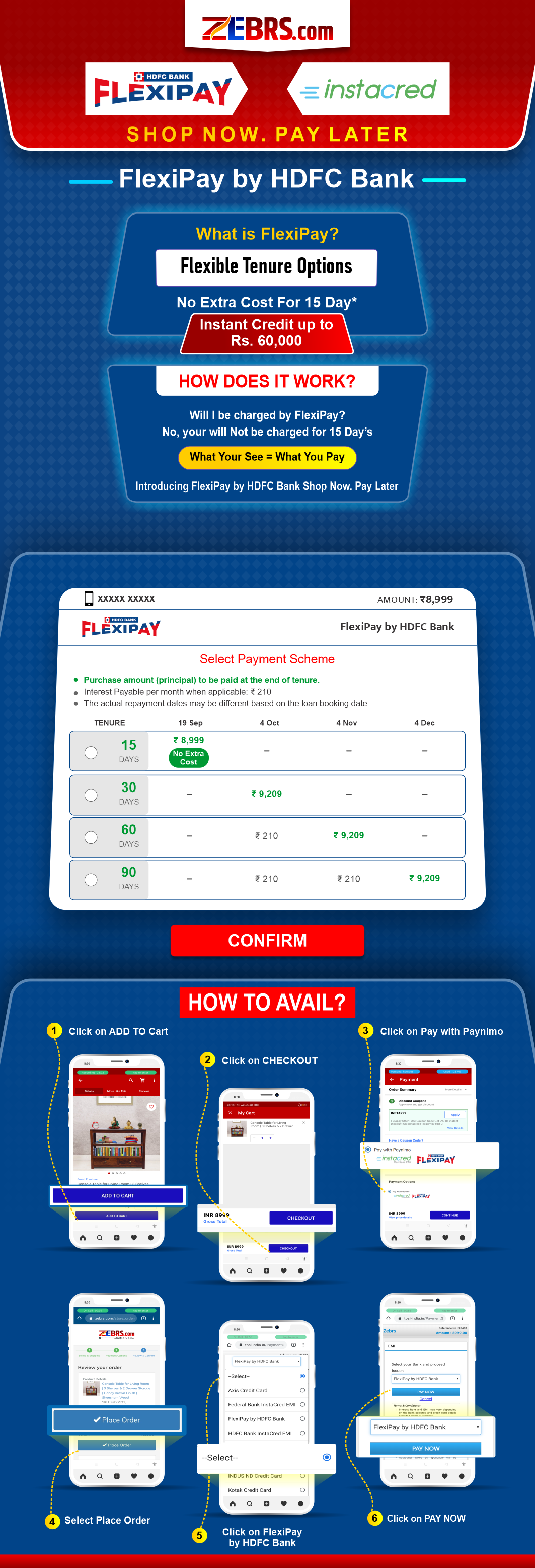 Instacred FlexiPay By HDFC Bank