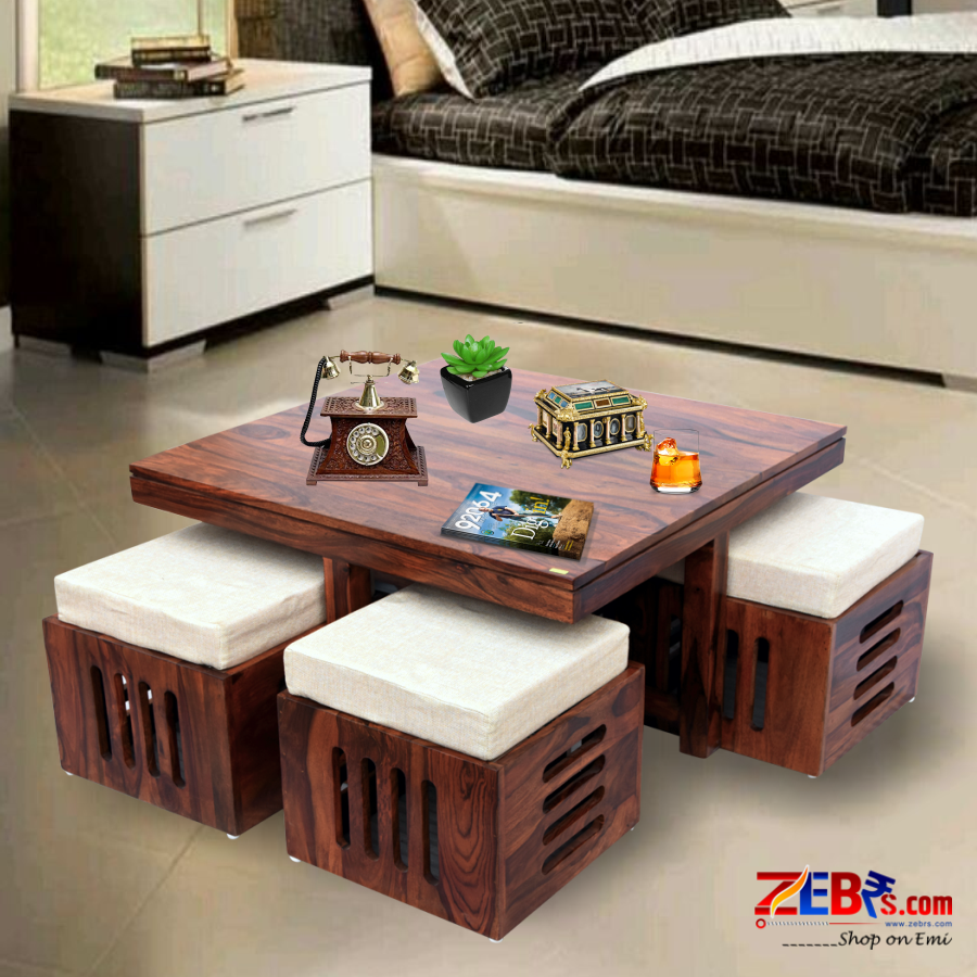 Furniture Sheesham Wood Square Coffee Table for Living ...