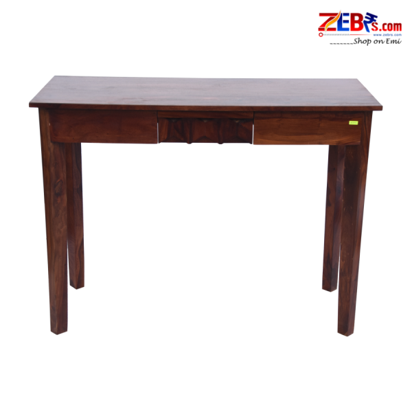 Console Table for Living Room | Wooden Side Table | Drawer Storage | Brown Finish