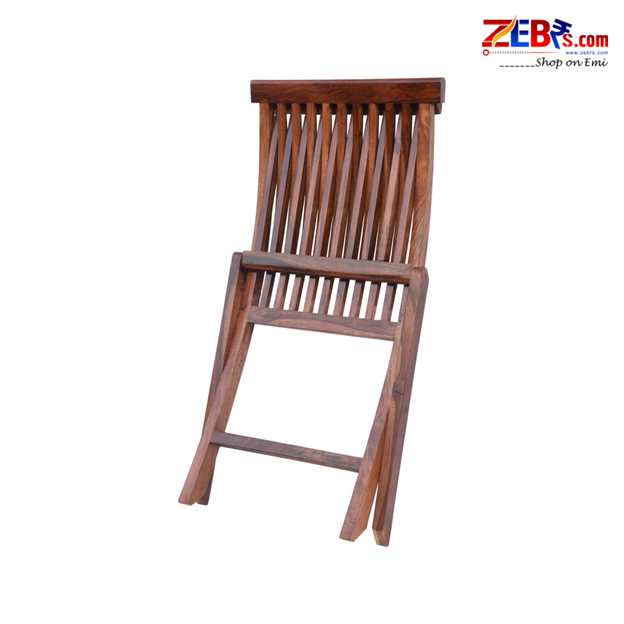 Furniture Sheesham Wood Patio Balcony Chair | for Home & Living Room | Foldable Chair | Honey Brown Finish