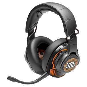JBL Quantum ONE USB Wired Over-Ear Professional Gaming Headset with Head-Tracking Enhanced JBL Quantum Sphere 360 & DTS Headphone X (Black)