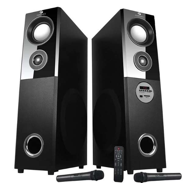 Zebronics ZEB-BT7500RUCF Tower Speaker with Bluetooth Connectivity, USB Connectivty and AUX Connectivity