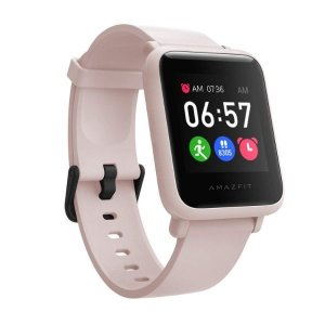 Amazfit Bip S Lite Smart Watch, 30 Days Battery Life, 150+ Watch Faces, Always-on Display, 30g Lightweight, 5 ATM Water Resistance, 8 Sports Modes (Sakura Pink)