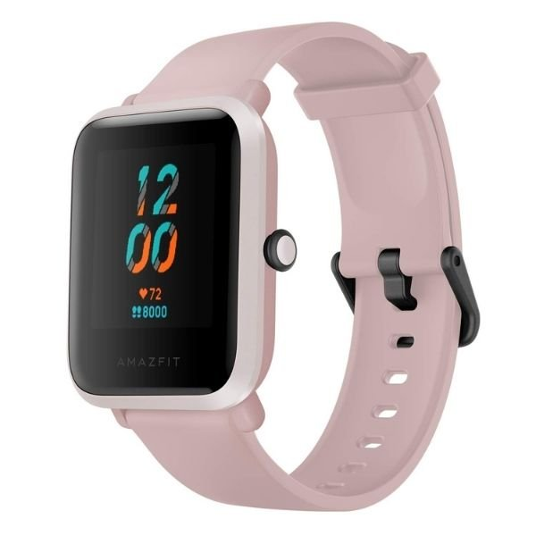 Amazfit Bip S Smart Watch with Built -in GPS, 15-Day Battery Life, Always-on Display, 5ATM Water Resistance (Warm Pink)
