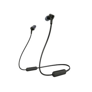 Sony WI-XB400 Wireless Extra Bass in-Ear Headphones with 15 Hours Battery Life, Quick Charge, Magnetic Earbuds, Tangle Free Cord, Bluetooth Ver 5.0, Headset with Mic for Phone Calls – (Black)