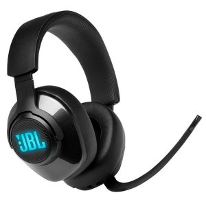JBL Quantum 400 Over-Ear Gaming Headset with QuantumSurround, Discord Certified Game Chat Dial & Voice Focus Boom Mic (Black)