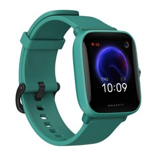 "Amazfit Bip U Smart Watch, 1.43"" HD Color Display, SpO2 & Stress Monitor, 60+ Sports Modes, Breathing Training, 50+ Watch Faces (Green)"