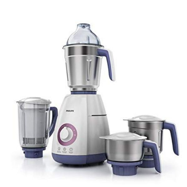 Philips Viva Collection HL7701/00 Mixer Grinder, 750W, 4 Jars (Elegant Lavender and White)