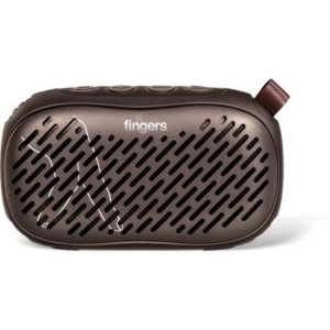 Fingers MUSILICIOUS BT2 9 W Bluetooth PA Speaker  (CHOCO BROWN, Stereo Channel)