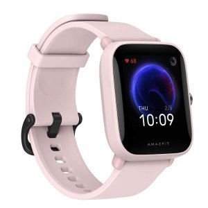 "Amazfit Bip U Smart Watch, 1.43"" HD Color Display, SpO2 & Stress Monitor, 60+ Sports Modes, Breathing Training, 50+ Watch Faces (Pink)"