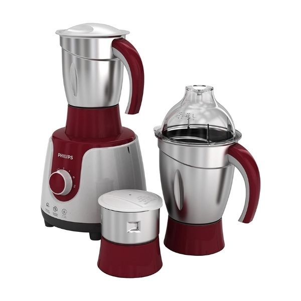 Philips HL7710/00 600 W Mixer Grinder  (Red, White, 3 Jars)