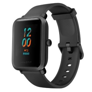 Amazfit Bip S Smart Watch with Built -in GPS, 15-Day Battery Life, Always-on Display, 5ATM Water Resistance (Carbon Black)
