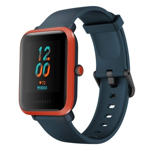 Amazfit Bip S Smart Watch with Built -in GPS, 15-Day Battery Life, Always-on Display, 5ATM Water Resistance (Red Orange)