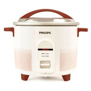 Philips HL1663/00 1.8-Litre Electric Rice Cooker (White/Red)
