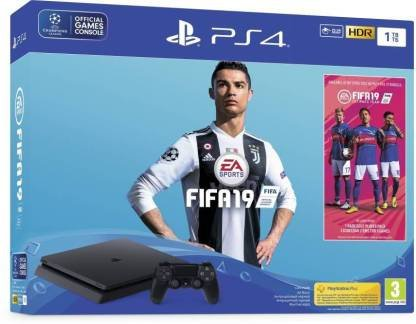 Sony PlayStation 4 1TB GB withFIFA 19 (Champions Edition) BUNDLE  (Black)