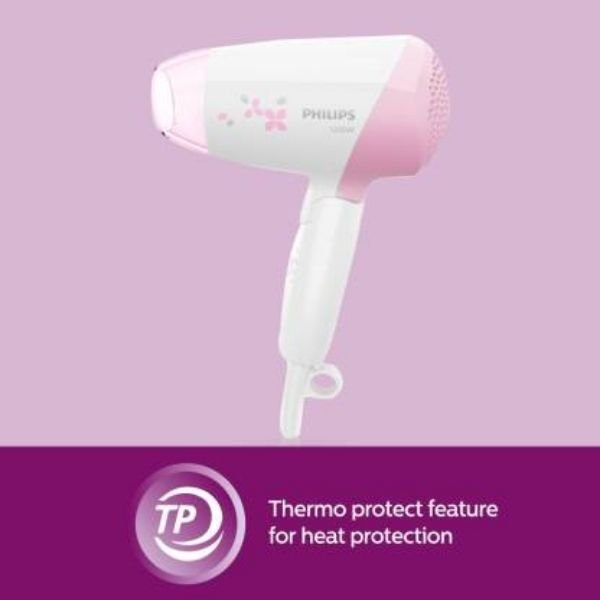 Philips Blazon HP8120/00 Hair Dryer  (1200 W, White, Pink)