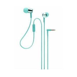 Sony EX155AP Wired Headset  (Light Blue, In the Ear)