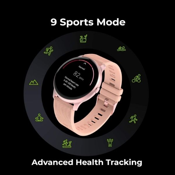 Noise NoiseFit Evolve Full Touch Control Smart Watch with AMOLED Display - Blush Pink