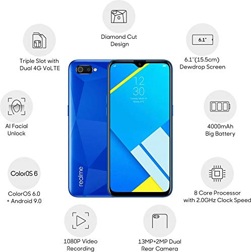 Realme C2 (Diamond Blue, 2GB RAM, 16GB )