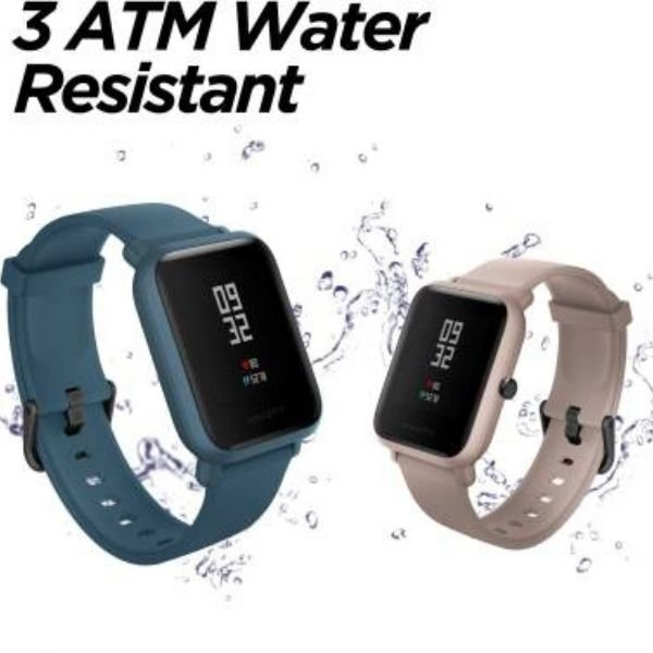 Amazfit Bip Lite Smartwatch  (Blue Strap, Regular)