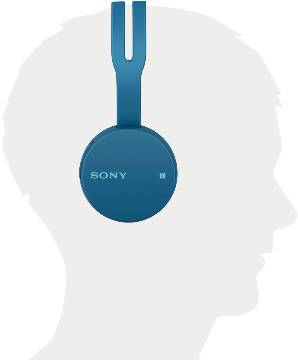 Sony WH-CH400 Wireless Headphones (Blue)