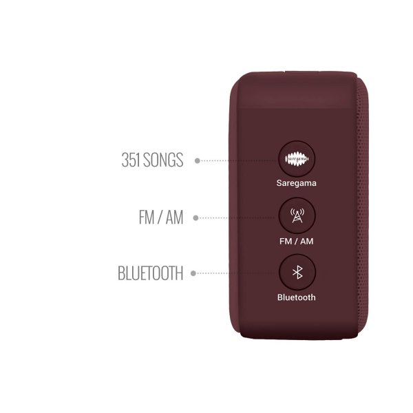 Saregama Carvaan Mini 2.0 Rabindrasangeet- Music Player with Bluetooth/FM/AM/AUX (Terracotta Brown)