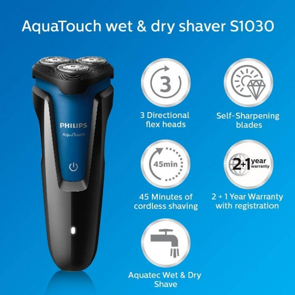 Philips AquaTouch Wet and Dry Electric Shaver – S1030/04