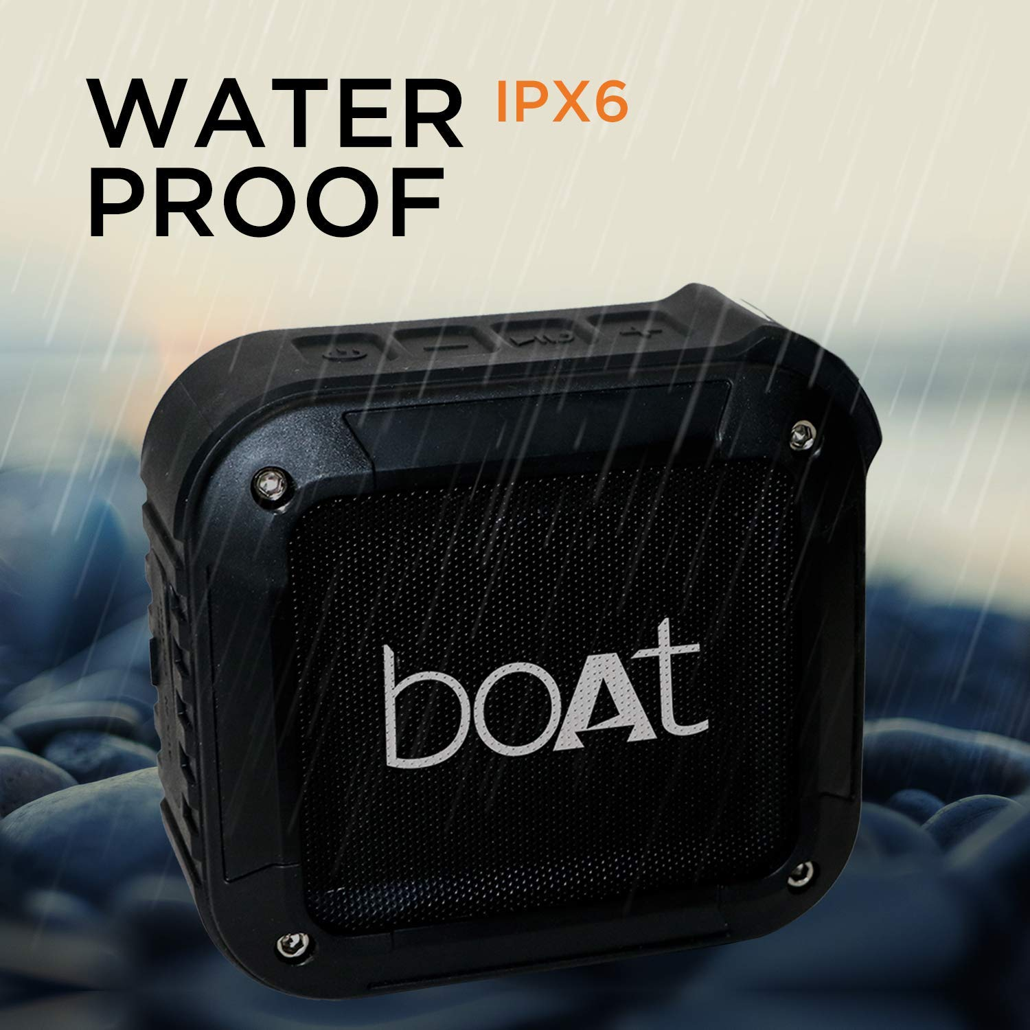 boAt Stone 200 Portable Bluetooth Speakers (Black)