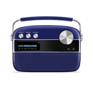 Saregama Carvaan Portable Music Player with 5000 Preloaded Songs, FM/BT/AUX  (Royal Blue)