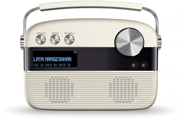 Saregama Carvaan Hindi SKU-R20008 Portable Digital Music Player (Porcelain White)