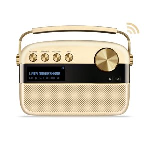 Saregama Carvaan 2.0 Portable Music Player  - Sound by Harman/Kardon with 5000 Preloaded Songs and Podcast, FM/BT/AUX (Champagne Gold)