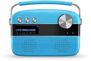Saregama Carvaan Hindi - Portable Music Player with 5000 Preloaded Songs, FM/BT/AUX (Electric Blue)