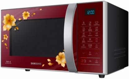Samsung 21 L Convection Microwave Oven (CE77JD-QD, Red)