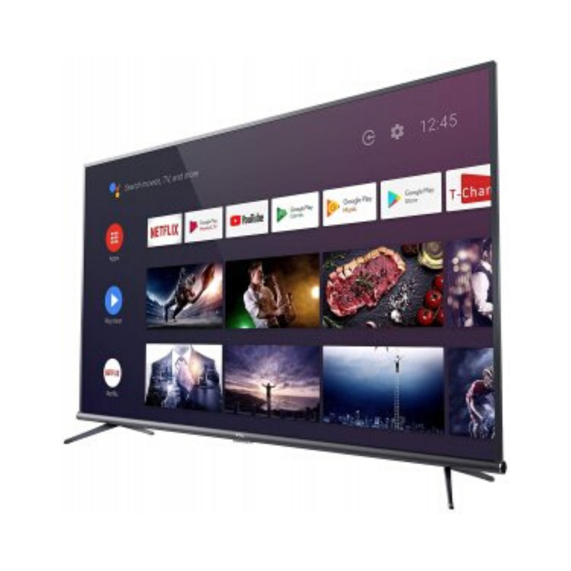 TCL 163.96 cm (65 inches) 4K Ultra HD Smart Certified Android LED TV 65P8E (Black)