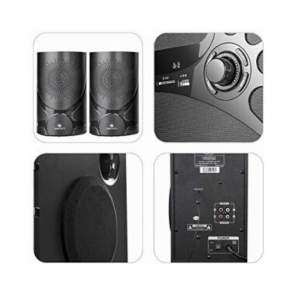 ZEBRONICS 2.1 Computer Multimedia Speaker with Bluetooth, USB, Micro SD Card, FM and Remote Control - Claw 2.1 BTRUCF
