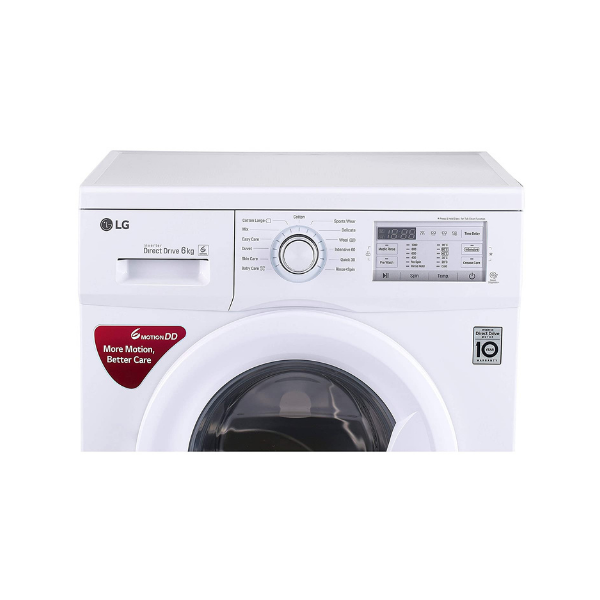 LG 6 kg Inverter Fully-Automatic Front Loading Washing Machine (FH0FANDNL02.ABWPEPL-cr, White)