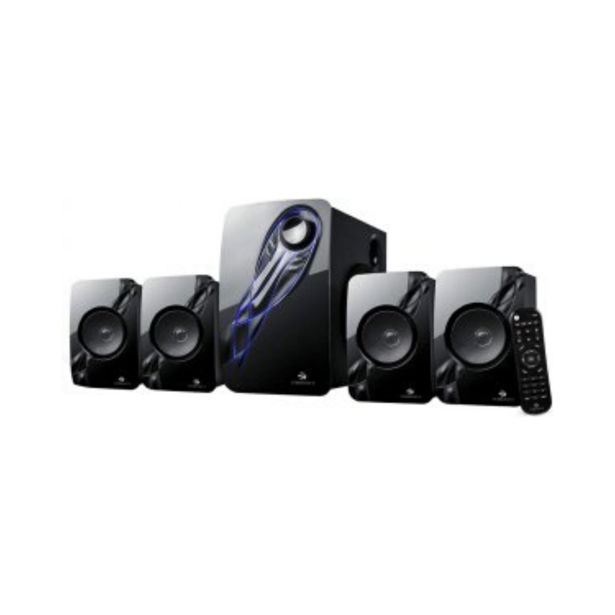Zebronics Electro 4.1 multimedia speaker with multi connectivity options like BT/SD/USB/MMC with AUX support