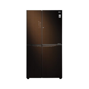 LG 675 L Inverter Linear Door-in-Door Side-by-Side Refrigerator (GC-M247UGLN, Linen Brown, LG ThinQ)