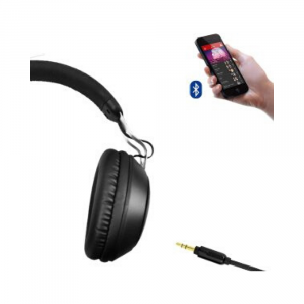 boAt Rockerz 480 Over Ear Wireless Bluetooth Headphone with Mic (Matte Black)