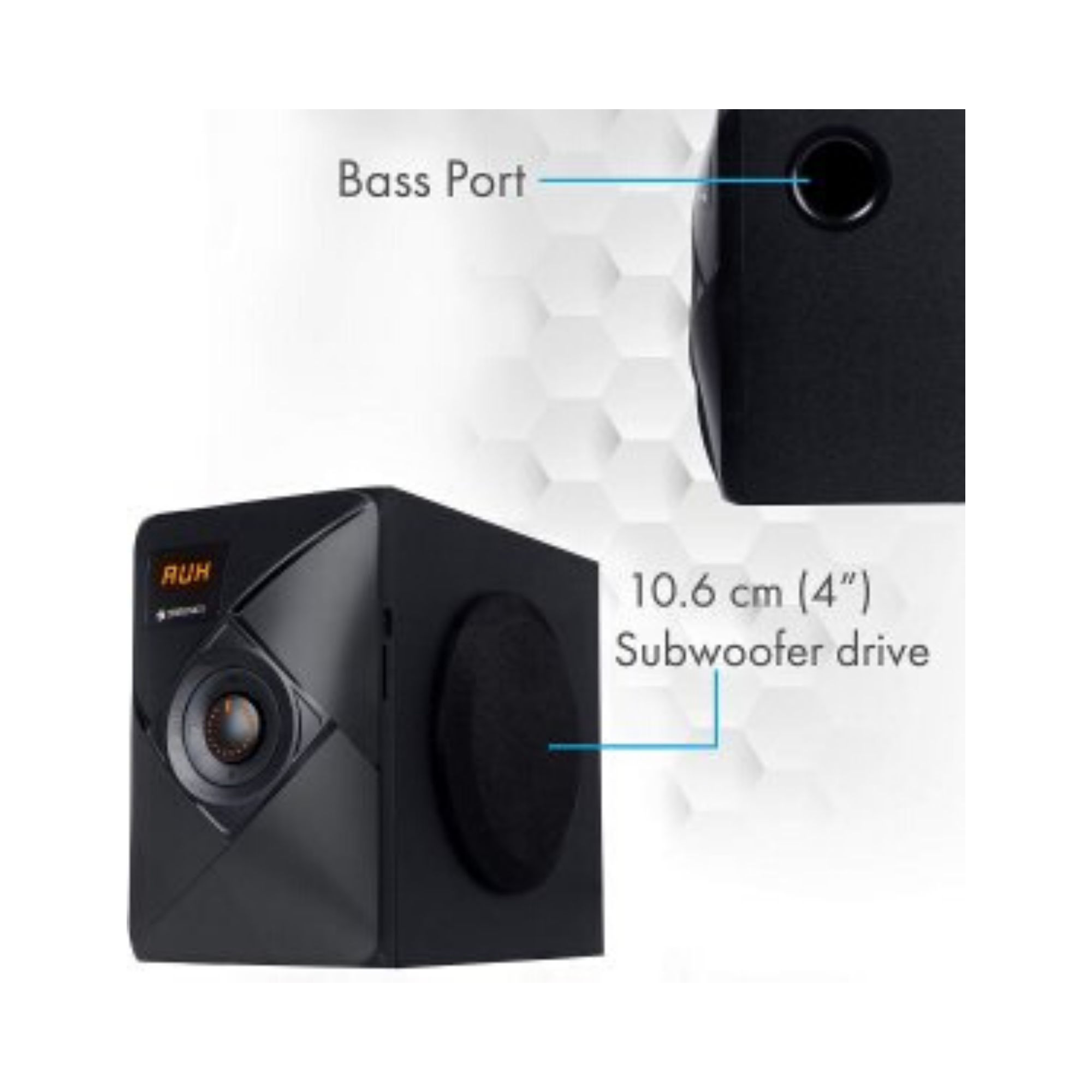 Zebronics ZEB-BT6790RUCF 5.1 Multi Media Speakers with USB Input, FM Radio and Remote Control (Black)