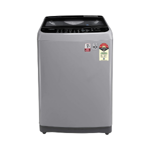 LG 9.0 Kg 5 Star Smart Inverter Fully-Automatic Top Loading Washing Machine (T90SJSF1Z, Middle Free Silver, Jet Spray+)