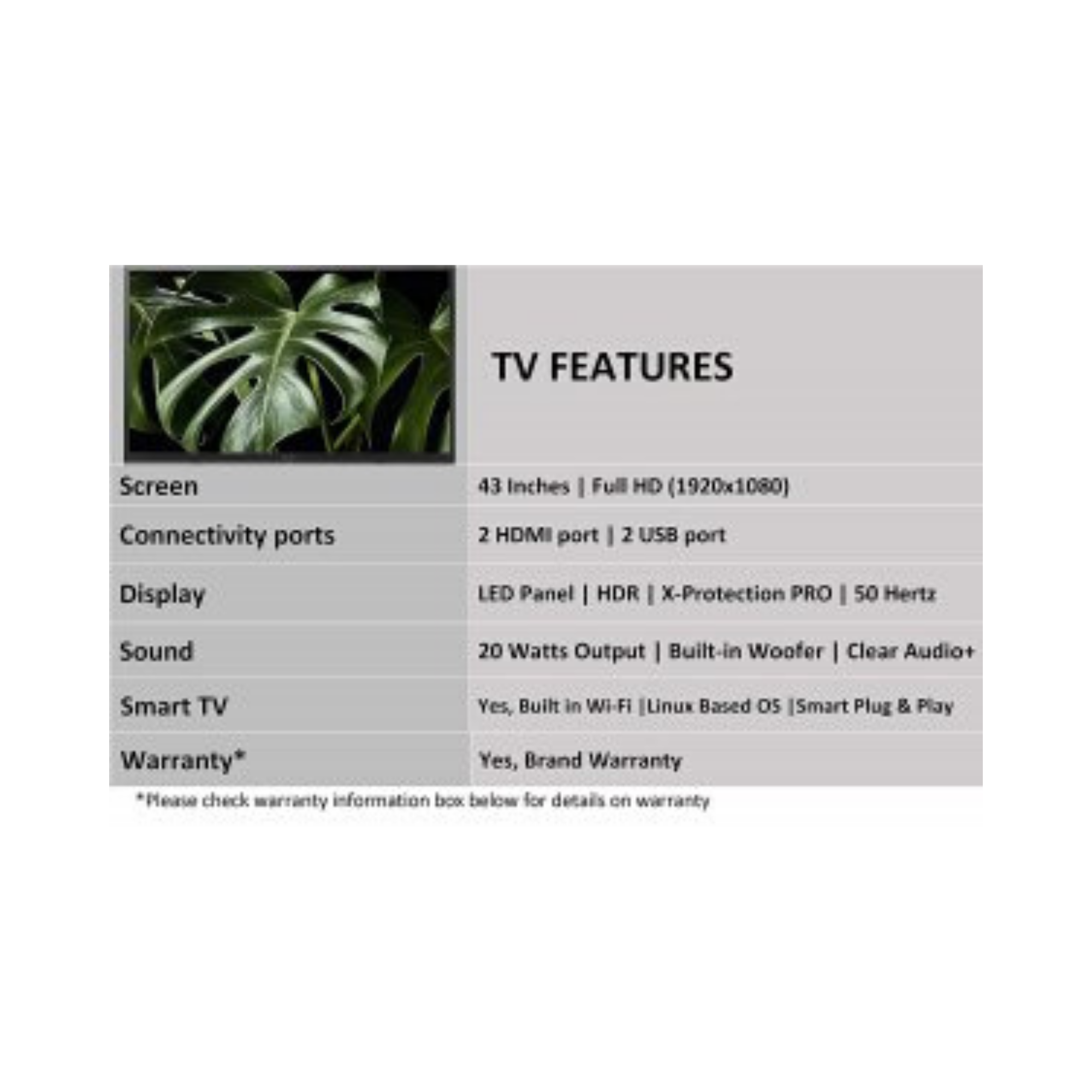 Sony Bravia  (43 inches) Full HD LED Smart TV KLV-43W672G