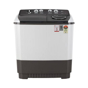 LG 10 kg 5 Star Rating Semi Automatic Top Load Grey, White  (P1045SGAZ)