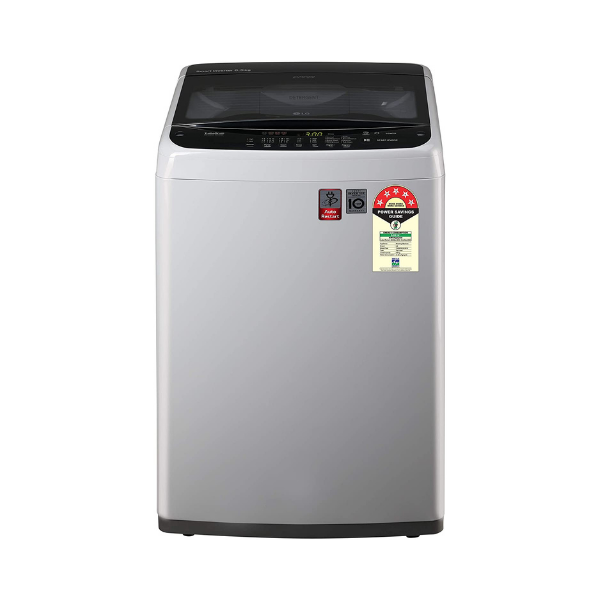 LG 6.5 Kg 5 Star Smart Inverter Fully-Automatic Top Loading Washing Machine (T65SPSF2Z, Middle Free Silver, TurboDrum)