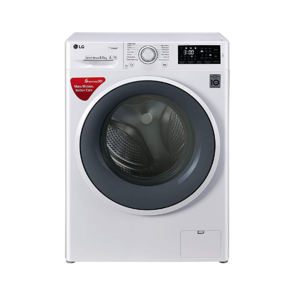 LG 6.5 kg Inverter Fully-Automatic Front Loading Washing Machine (FHT1265SNW, Blue and White)