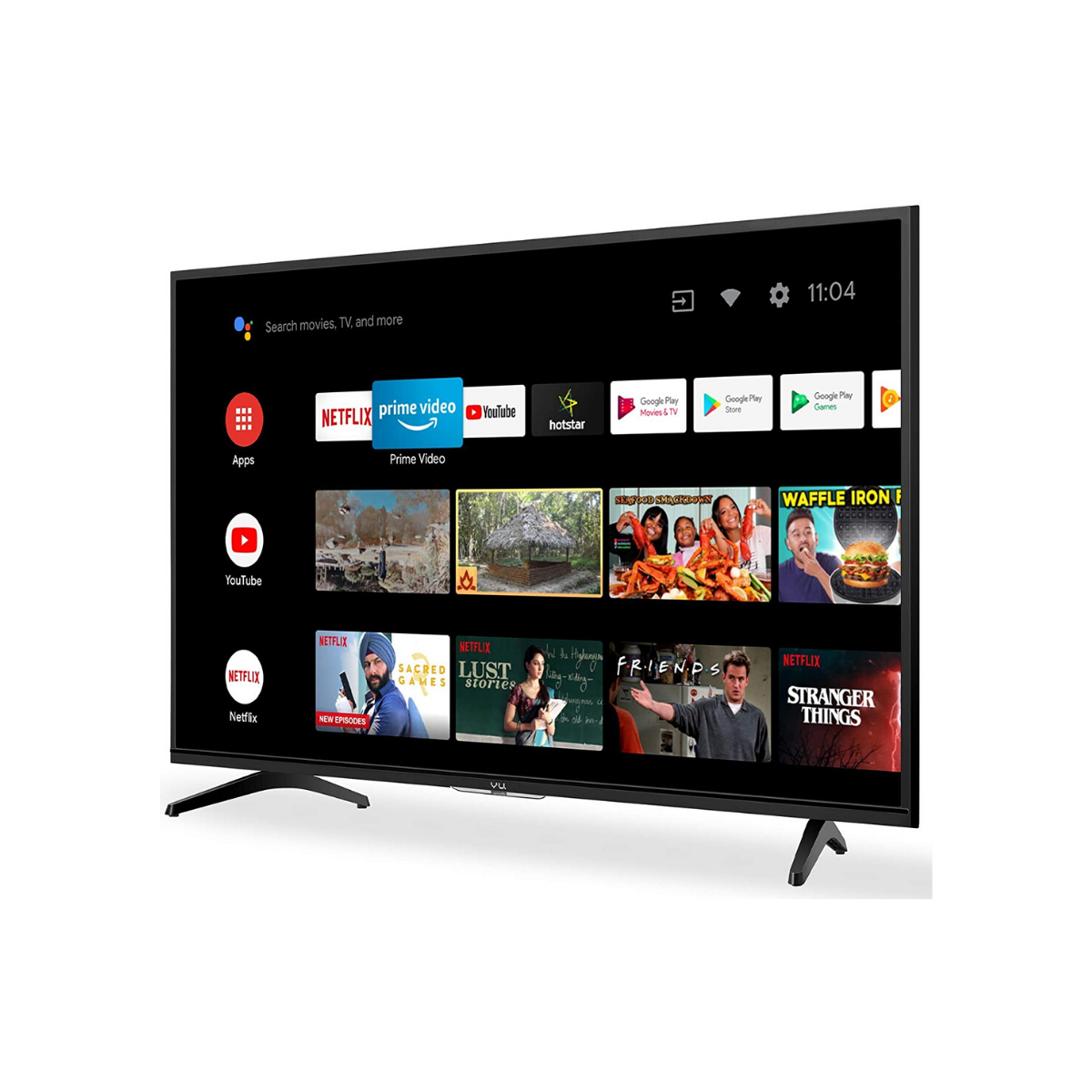 Vu 80 cm (32 inches) HD Ready UltraAndroid LED TV 32GA (Black)