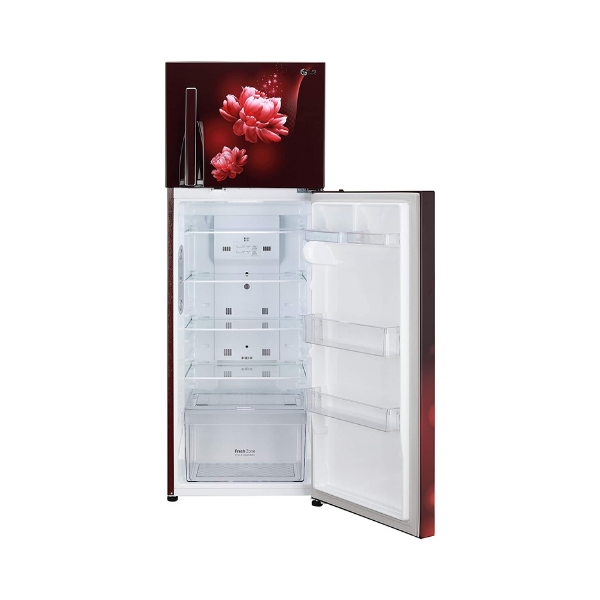 LG 308 L 2 Star Smart Inverter Frost-Free Double Door Refrigerator (GL-T322RSCY, Convertible, Scarlet Charm)