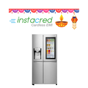LG 668 L InstaView Door-in-Door inverter linear Side-by-Side Refrigerator (GC-X247CSAV, Noble Steel, LG ThinQ)